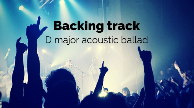 D Major Acoustic Guitar Backing Track