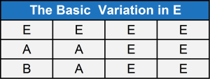 tha basic variation in E