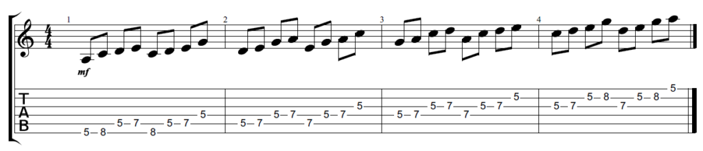 Pentatonic scale sequences