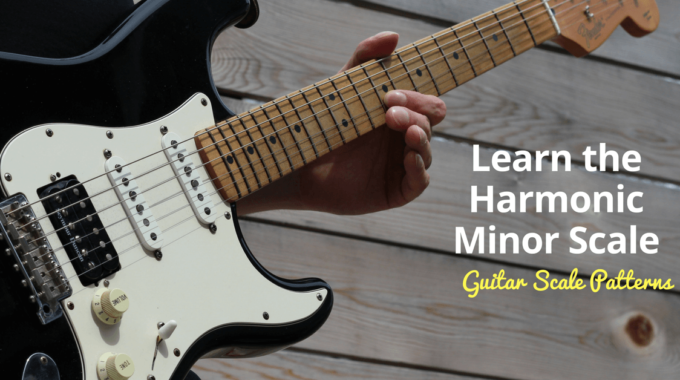 Harmonic Minor Guitar Scale Charts