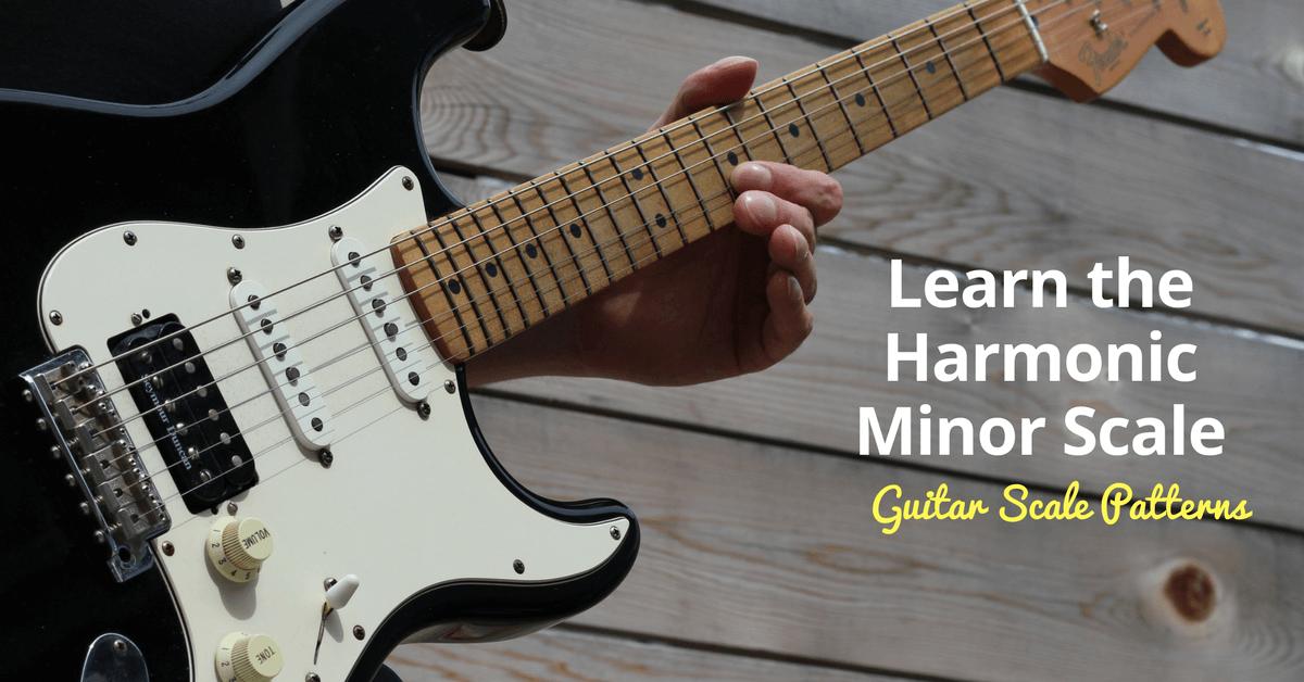 Harmonic Minor Guitar Scale Charts